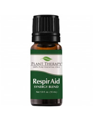 Plant Therapy Respir Aid Essential Oil | Sinus, Airway and Congestion Clearing Synergy Blend | 100% Pure, Undiluted, Natural Aromatherapy, Therapeutic Grade | 10 milliliter (1/3 ounce)