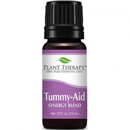 Plant Therapy Tummy Aid Synergy Essential Oil Blend. 100% Pure, Undiluted, Therapeutic Grade. Blend of: Dill Weed and Sweet Fennel. 10 ml (1/3 oz).