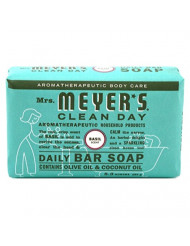 Daily Bar Soap, Basil 5.3 Oz by Mrs Meyers (Pack of 2)