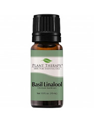 Plant Therapy Basil Linalool Essential Oil 10 mL (1/3 oz) 100% Pure, Undiluted, Therapeutic Grade