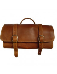 Canyon Outback Leather Goods, Inc. Buffalo Mountain Hanging Leather Toiletry Bag, Distressed Tan