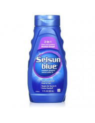 Selsun Blue Shampoo Naturals Dandruff 2-In-1 Strength 11 Ounce (325ml) (2 Pack)