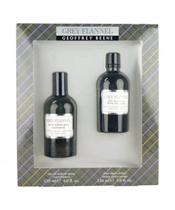 Grey Flannel by Geoffrey Beene | Fragrance for Men | Oriental Woody Scent | 2-Piece Gift Set Includes 4 oz Eau de Toilette Splash and 4 oz After Shave Lotion