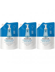 Method Foaming Hand Wash Refill Pouch, Sea Minerals, 28 Fl Oz (Pack of 3)