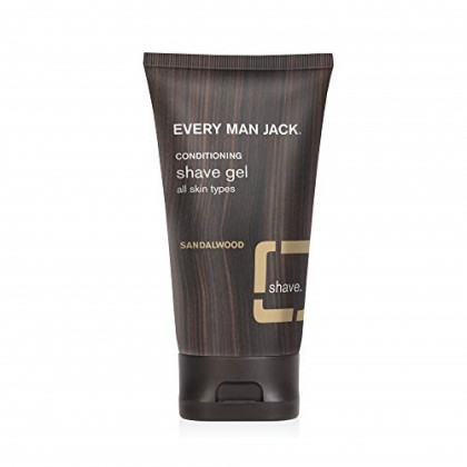 Every Man Jack Shave Gel, Sandalwood, 5.0-ounce