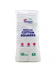 Swisspers Cotton Squares 160 Quilted (2 Pack)