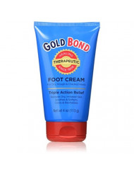 Gold Bond Foot Cream Triple Action 4 Ounce (2 Pack)