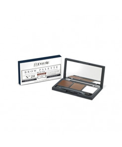 Eylure Defining and Shading Brow Palette, Brow Wax, Powder and Highlighter, Mid Brown