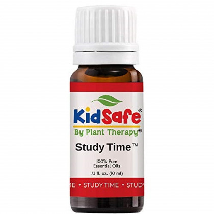 Plant Therapy Study Time Synergy Essential Oil - Focus, Mind Calming, Concentration Blend for Kids 100% Pure, Undiluted, Natural Aromatherapy, Therapeutic Grade 10 mL (1/3 oz)