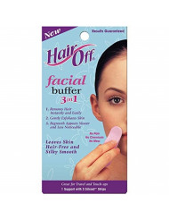 HairOff Facial Buffer 3 Each (Pack of 6)