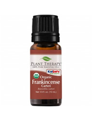 Plant Therapy Frankincense Carteri Organic Essential Oil 100% Pure, USDA Certified Organic, Undiluted, Natural Aromatherapy, Therapeutic Grade 10 mL (1/3 oz)