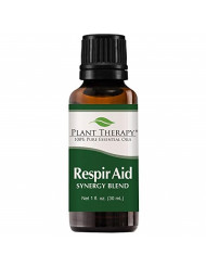 Plant Therapy Respir Aid Essential Oil | Sinus, Airway and Congestion Clearing Synergy Blend | 100% Pure, Undiluted, Natural Aromatherapy, Therapeutic Grade | 30 milliliter (1 ounce)