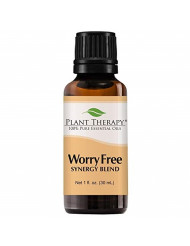 Plant Therapy Essential Oil | Worry Free Synergy | Stress & Calming Relief Blend | 100% Pure, Undiluted, Natural Aromatherapy, Therapeutic Grade | 30 milliliter (1 ounce)