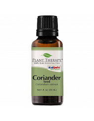Plant Therapy Coriander Seed Essential Oil 30 mL (1 oz) 100% Pure, Undiluted, Therapeutic Grade