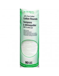 80 Count Assured 100% Cotton Rounds (Pack of 2)
