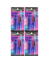 (4 Pack) Maybelline New York Volume' Express The Rocket Waterproof Mascara, Brownish Black, 0.3 Fluid Ounce