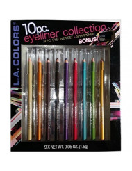 L.A. Colors Eye Liner Pencil 9 Colors with Free Bonus Sharpener