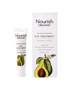 Nourish Organic Renewing Plus Cooling Eye Treatment Cream, Avocado & Argan Oil, 0.5 Oz