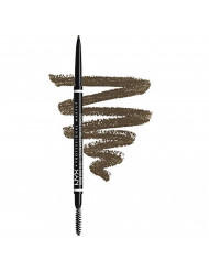 NYX PROFESSIONAL MAKEUP Micro Brow Pencil, Eyebrow Pencil, Ash Brown, 0.003 Oz