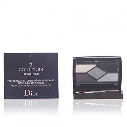 Christian Dior 5 Couleurs Designer All-in-one Professional Eye Palette, 208/Navy, 0.2 Ounce