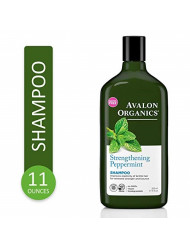 Avalon Organics Strengthening Peppermint Shampoo, 11 Ounce