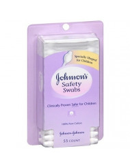 Johnson's Baby Safety Swabs 55 ea Pack of 2