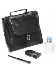 Embassy Italian Stone Design Genuine Lambskin Leather Toiletry Bag