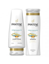 Pantene Pro-V DUO Set Shampoo 12.6 Ounce + Conditioner 12 Ounce (Smooth and Sleek)