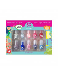 SuncoatGirl Water-Based Nail Polish Kit, Flare & Fancy, 10 Pieces