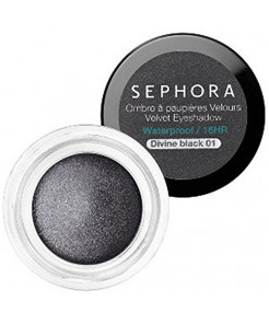 Sephora Waterproof Velvet Eyeshadow, Divine Black 01