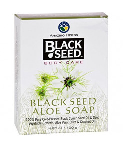 Black Seed Bar Soap, Aloe, 4.25 Ounce