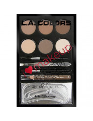 L.A. Colors I Heart Makeup Brow Palette, Light to Medium, 0.26 Ounce
