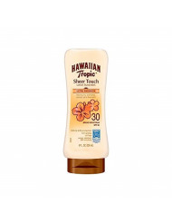 Hawaiian Tropic Sunscreen Sheer Touch Broad Spectrum Sun Care Sunscreen Lotion - SPF 30, 8 oz. (Pack of 3)