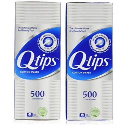 Q-tips Cotton Swabs 500 ea (Pack of 2)