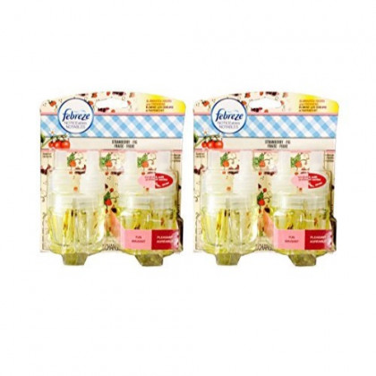 Febreze Noticeables Dual Scented Refills, Strawberry and Fig, 2 Pack, 4 Total Refills