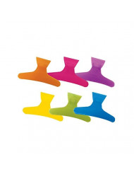Soft 'N Style Neon Butterfly Clamps Hc-183