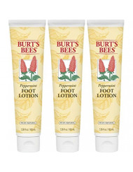 Burt's Bees Peppermint Foot Lotion - 3.38 Ounce Tube - Pack of 3