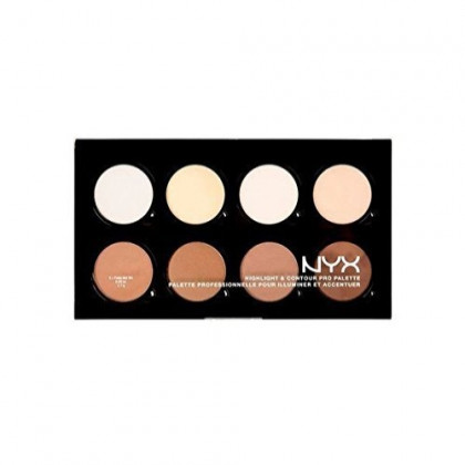 NYX HCPP01 Highlight & Contour Pro Palette 8 Colors x 0.09 oz Full SizeBCS_INPF