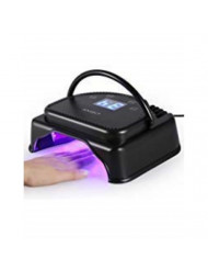 Gel Nail Lamp Anself 64W Pro LED Curing Dryer Lamp Nail Polish Machine 110-240V With Lifting Handle Touch Sensor LCD Screen (Black)