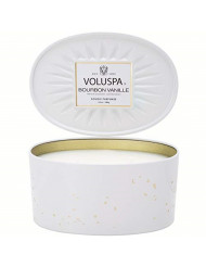 Voluspa Bourbon Vanille 2 Wick Oval Tin Candle, 12 Ounces