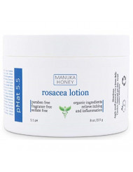 Rosacea Cream - with Manuka Honey, Aloe Vera & Coconut Oil Extract - Redness, Inflammation, Acne and Rosacea Relief - Itch & Scar Treatment - Paraben & Sulfate Free (8 oz)