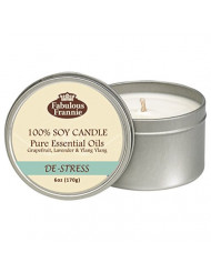 Fabulous Frannie De-Stress 100% Pure & Natural Soy Candle 6 oz
