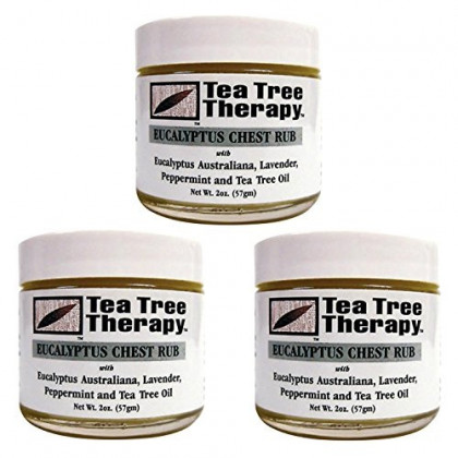 Tea Tree Therapy Eucalyptus Australian Chest Oil, Lavender Peppermint and Tea Tree, 2 Ounce (3-Pack)