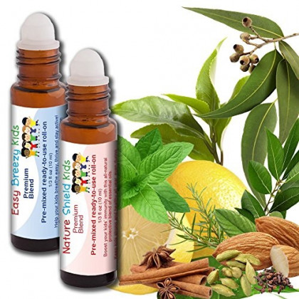 Aromata Immunity Essential Oil Immune Boosting Blend - Nature Shield Kids and Easy Breezy Kids - Kid-Ready, no Mess, Hassle-Free - Ready-to-use