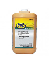 Zep Professional Industrial Hand Cleaner, Gel, Orange, 1 gal Bottle, 4/Carton
