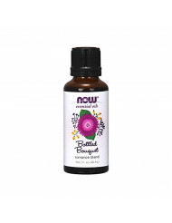 Now Essential Oils, Bottled Bouquet Oil Blend, Floral Aromatherapy Scent, Blend of Pure Essential Oils, Vegan, 1-Ounce