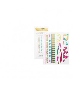 SEPHORA COLLECTION Shine Beautifully Watercolor Metallic Temporary Tattoos