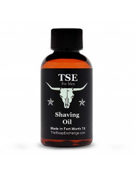TSE for Men Pre-Shave Oil - Cool Mint Scent - Hand Crafted 2 fl oz / 60 ml Ultra Glide, Premium Lubricating, Natural Ingredients, For Face or Head, Made in the USA.