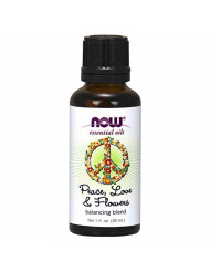 Now Essential Oils, Peace, Love and Flowers, Sweet Floral Aromatherapy Scent, Blend of Pure Essential Oils, Vegan, 1-Ounce
