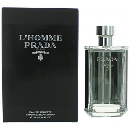Prada L'Homme Eau De Toilette Spray, 3.4 Fluid Ounce